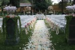 Wedding set up in the garden at Four Seasons Firenze