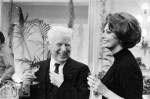 Charlie Chaplin and Sofia Loren sipping champagne in 1966 (photo from LIFE)
