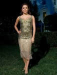 Eva Longoria wearing Reem Acra at Fiesta-Latina-Music Event held at The White House