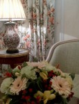 Beautiful fresh flower arrangement in a Suite at LE BRISTOL Hotel, Paris