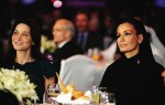 HRH Sheikha Mozah and French First Lady Carla Bruni in Doha at WISE event