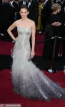 Hilary Swank in Gucci Premiere arriving at Oscars 2012