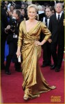 Meryl Street (in Lanvin) wins Best Actress award at Oscars 2012 for IRON LADY