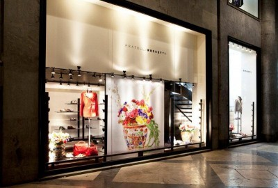 Newly re-opened Fratelli Rossetti flagship store, Milan, Italy