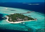 Four Seasons Resort Maldives at Landaa Giraavaru, aerial view