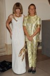 Miuccia Prada and Anna Wintor (in Prada's Lobster Dress) at the Met Gala in New York