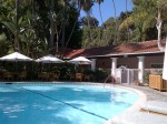 Swimming pool at Bel Air Hotel Beverly Hills