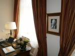 Living room of Sir Peter Ustinov suite at Fairmont Vier Jahrszeiten, Hamburg