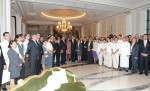 President and First Lady of Azerbaijan with staff of Four Seasons Hotel Baku, on the day of inauguration