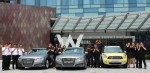 Staff photo with hotel cars - W Singapore Sentosa Cove (photo Facebook page of the hotel)