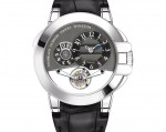 HARRY WINSTON Ocean Tourbillon Big Date in white gold. Dark grey diamond point and Cotes de Geneve dial