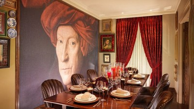 Dining room of Cinema Suite at the 51, Buckingham Gate Hotel London by TAJ
