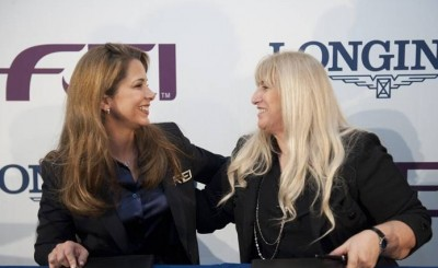FEI President HRH Princess Haya and Mrs Nayla Hayek, Chair of the Board of Directors of the Swatch Group