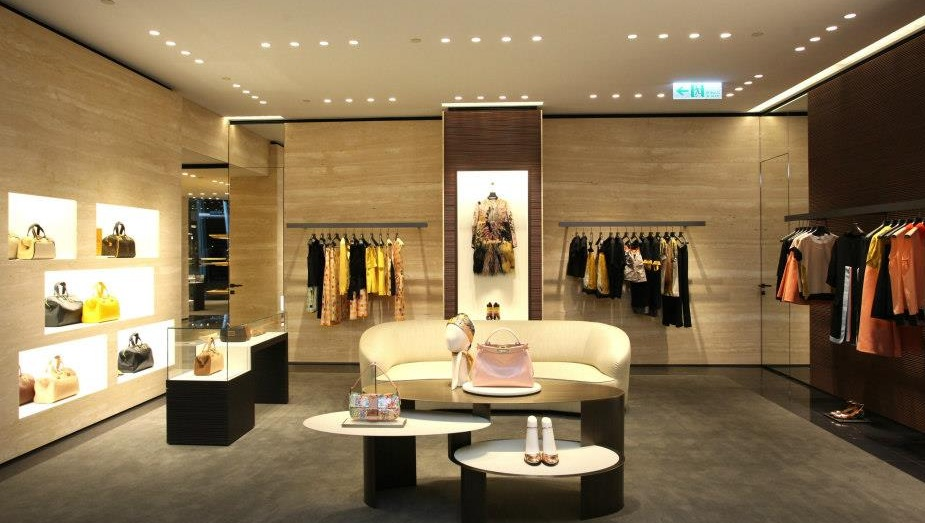 Fendi opens next month its new flagship store in paris on for Boutique interior design