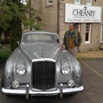 A loyal customer drove all the way from Switzerland in his vintage Bentley to place an order for his CHEANEY shoes in Northampton, England