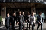 Dolce & Gabbana models leave Claridge's in a live street presentation
