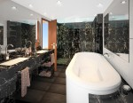 Penthouse Spa Suite - bathroom, aboard Seabourn Quest