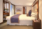 Penthouse Spa Suite - bedroom, aboard Seabourn Quest