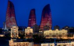 Fairmont Hotel Baku at Flame Towers (Azerbaijan) - night view