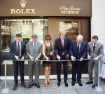 Inauguration of ROLEX Belgrade, with Petrovic family and HE Ambassador of Switzerland to Serbia