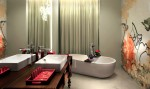 Mira Moon Hotel, Hong Kong - twin bathroom