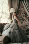 DIOR Glamour Book - Sophie Malgat wearing an evening dress