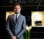 Leonardo Di Caprio at the opening of Tag Heuer flagship store Paris, Boulevard de Capucines