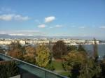 Swissotel Metropole, Geneva - view from roof-top terrace