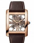 Cartier Tank MC Two-Tone Skeleton watch 2014 SIHH