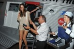Model Alessandra Ambrosio and Rimowa CEO Dieter Morszeck