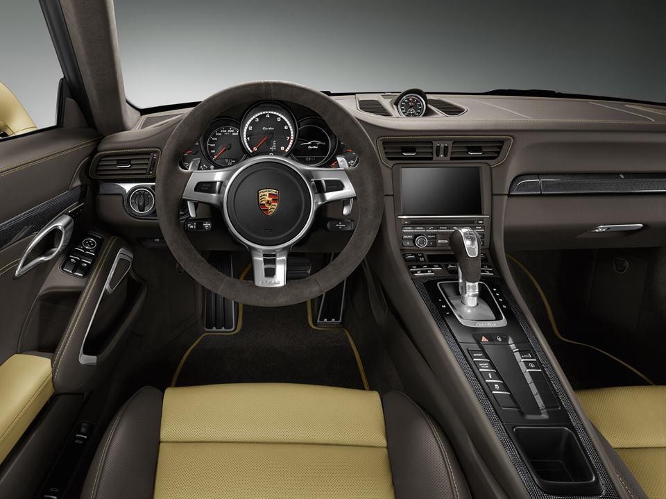 Porsche releases 911 turbo exclusive in lime gold cpp luxury for Interieur voiture de luxe