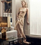 Cate Blanchett wearing an Armani Prive gold dress, VOGUE January 2014