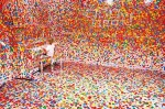 Yayoi Kusama's Obliteration Room exhibit in Queensland, Australia