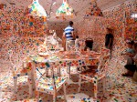Yayoi Kusama - The Obliteration Room exhibit in Queensland, Australia