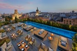 Terrat rooftop dining and dip pool at Mandarin Oriental, Barcelona