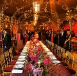 Dinner at the Van Cleef & Arpels event at Chateau Chambord