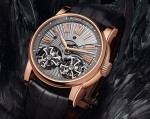 Roger Dubuis - Hommage Double Flying Tourbillon in pink gold with hand-made Guilloché