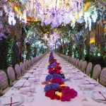 Plaza Athenee, a spectacular set up for a dinner gala to launch Vertu's new Aster