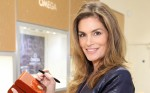 Omega brand ambassador Cindy Crawford at new Oxford Street store opening