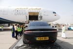 Aston-Martin-Lagonda being cargo loaded on Oman Air