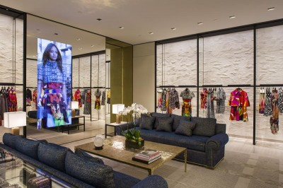 Chanel reopens enlarged store at South Coast Plaza Mall, CA
