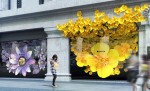 Apple's 'Flowers' window installation at Selfridges London