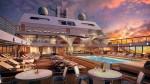 'Seabourn Encore' cruise ship - main pool-deck launching 2016