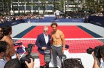 Tommy Hilfiger And Rafael Nadal at the strip tennis launch of #tommyxnadal