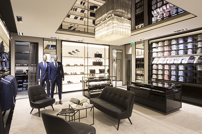hugo boss opens new store in lyon france cpp luxury. Black Bedroom Furniture Sets. Home Design Ideas