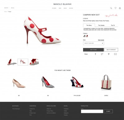Manolo Blahnik e-commerce