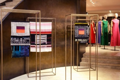Stitch & Pixel - Robin Kang exhibit at Max Mara Brussels Store