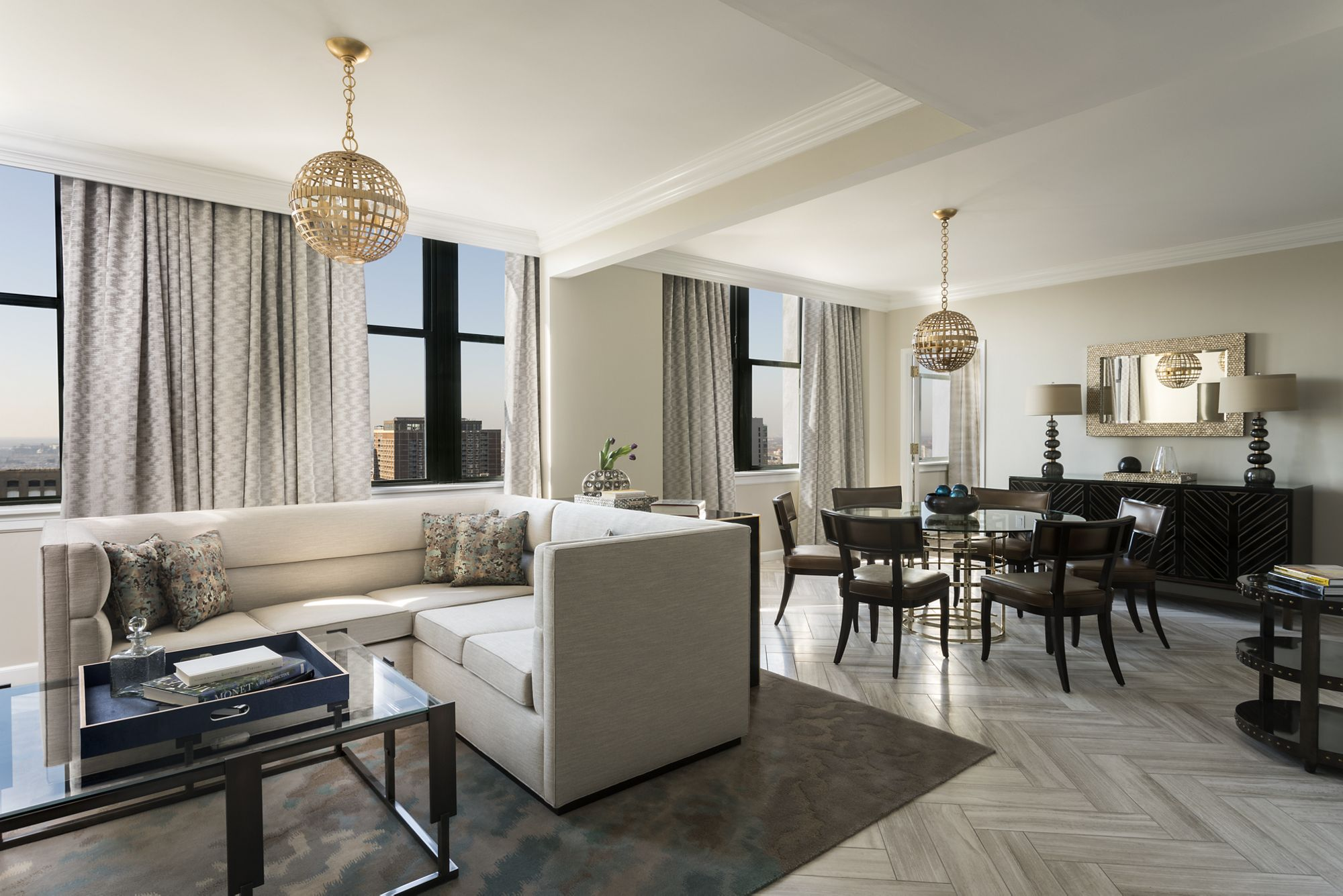 Ritz carlton philadelphia reopens following renovations for Designer dining room suites