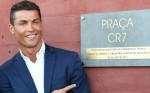 Cristiano Ronaldo at Pestana CR7 Hotel Funchal Madeira