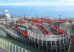 Ferrari branded racetrack on-board Norwegian Joy cruise ship